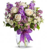 Creamy Purple Vase