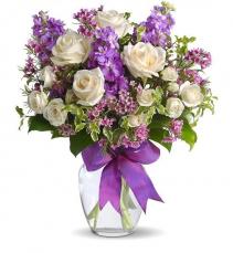 Creamy Purple Vase