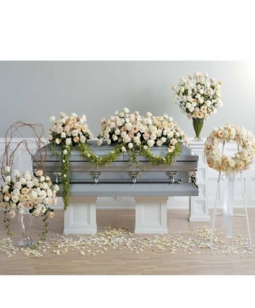 Creamy Roses Package Funeral Package