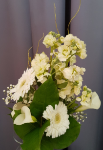 Creamy Whites Bridal Bouquet - Handtied