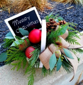 Create your own sign Christmas basket