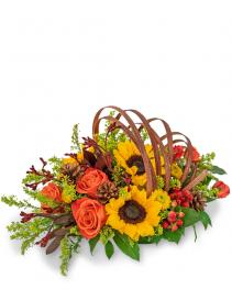 Creative Cornucopia Flower Arrangement