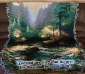 Creekside Trail Tapestry throw by Thomas Kincade