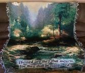 Creekside Trail Tapestry throw by Thomas Kincade