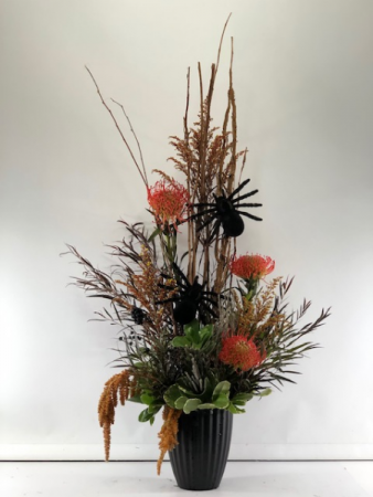 Creepy-Crawly Bouquet Vase Arrangement