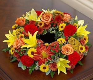 Cremation Wreath - Fall Arrangement in Croton On Hudson, NY | Cooke's Little Shoppe Of Flowers