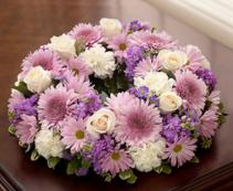 Cremation Wreath - Lavender and White Arrangement