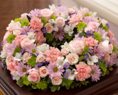 Cremation Wreath - Multicolor Pastel Memorial Flowers