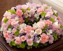 Cremation Wreath - Multicolor Pastel Arrangement