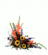 Crescent  Arrangement Cremation Flowers