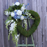Crescent Heart  Funeral Wreath