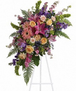 Crescent Pastel Spray Sympathy in Cleveland, TX | EASY STREET FLORIST
