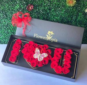 Mysterious Love Box of Roses / Sold Out in Miami, FL | FLOWERTOPIA