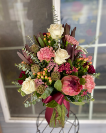 Crimson and Clover Bouquet