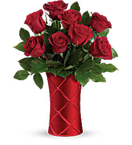 Crimson Beauty Vase arrangment