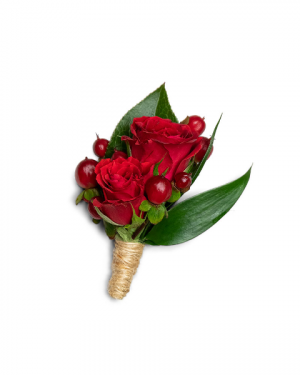 Crimson Boutonniere Corsage/Boutonniere in Nevada, IA | Flower Bed