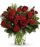 Crimson Christmas Vase Christmas