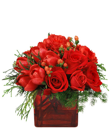 CRIMSON CHRISTMAS Bouquet in Lonoke AR EMILYS FLOWERS AND GIFTS
