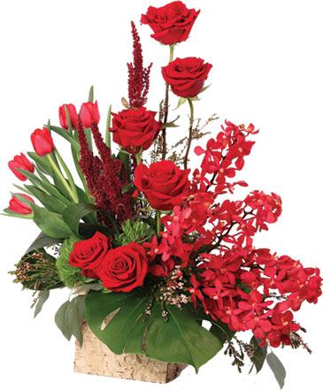 Crimson Class Floral Arrangement