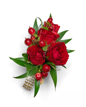 Crimson Corsage Corsage/Boutonniere in Nevada, IA | Flower Bed