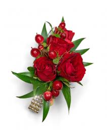 Crimson Corsage Corsage/Boutonniere