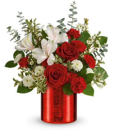 Crimson Crush Bouquet All-Around Floral Arrangement