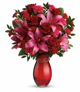 Crimson Kisses Bouquet  Arrangement in Reno, NV | Best Flowers By Julie