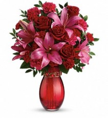 Crimson Kisses Teleflora Arrangement