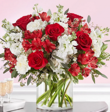 Crimson Love  Mixed Floral Arrangement