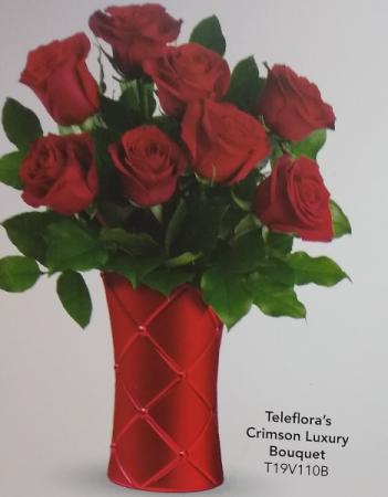 Crimson Luxury Bouquet Valentines