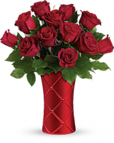 Crimson Luxury Vase