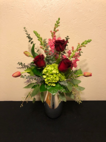 Crimson Reflections Specialty Vase Arrangement