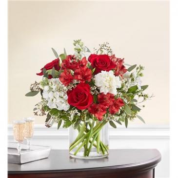 Crimson Rose Bouquet Floral Arrangement