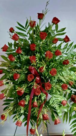 Crimson Roses stand
