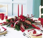 Crimson Splendor Holiday Flowers