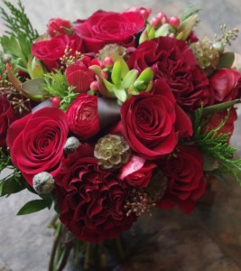 Crimson Winter Handtied Bouquet