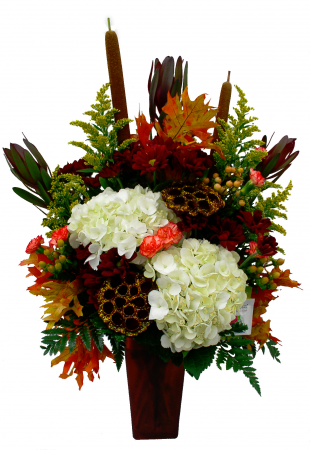 Crisp Amber Day Vase Arrangement