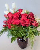Crisp and Cool Winter Roses Rose Mix