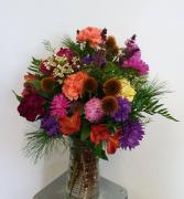 Crisp Autumn Colors Vase