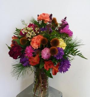 Crisp Autumn Colors Vase in Norway, ME | Green Gardens Florist & Gift Shop