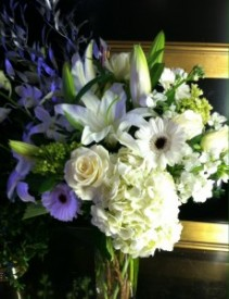 Crisp Whites Vase Arrangement
