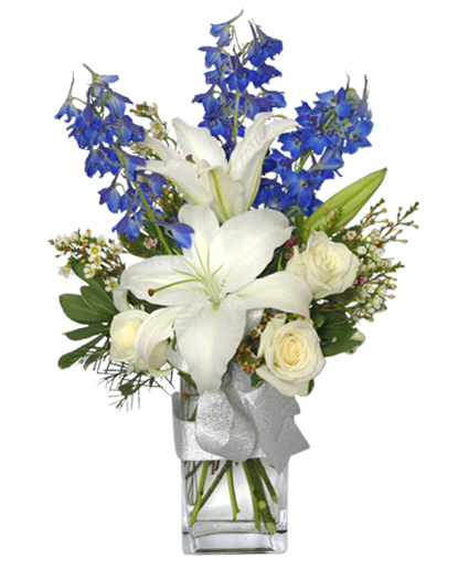 Crisp winter skies flower arrangement in colorado springs co crisp winter skies flower arrangement mightylinksfo