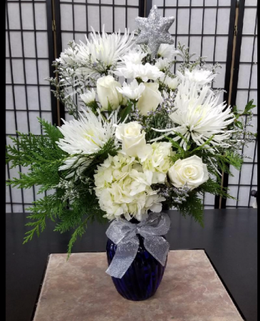 Crisp Winters Night 1 Sided Bouquet