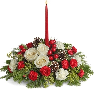 CHRISTMAS AGLOW CENTERPIECE