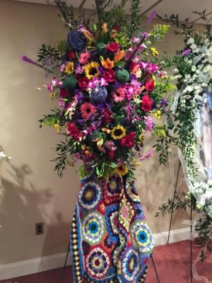 Crochet themed Standing spray.   in Ozone Park, NY   Heavenly Florist