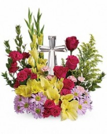 Crystal Cross Arrangement Centre piece
