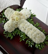 Cross casket spray Funeral