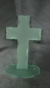 Cross Green Glass 8 inch Cross Green Glass 8 inch