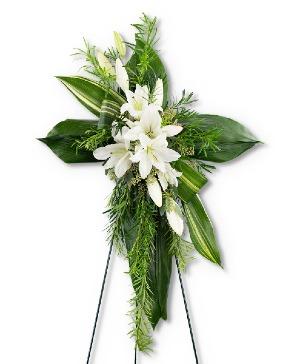 Cross of Comfort Sympathy in Nevada, IA | Flower Bed