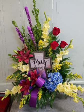 Cross of Inspiration Funeral Basket